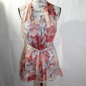 WHBM Sleeveless Tie Waste Blouse, NWT, Size M